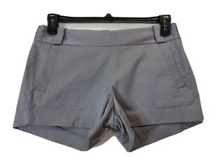 J Crew Chino Short Shorts Women's Size 4 100% Cotton Flat Front GRAY