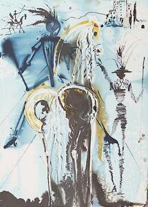 Salvador Dali - Don Quichotte (signed lithograph, 1983)