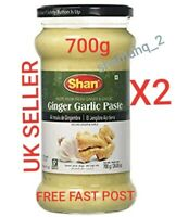 2x Minced Ginger and Garlic Paste - 700g Glass Jar - Shan Brand, 2 jars