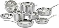 Cuisinart MultiClad Pro Triple-Ply Stainless Steel 12-Piece Cookware Set