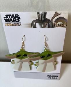 Star Wars Mandalorian Baby Yoda Dangle Earrings NEW