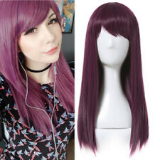 Descendants 2 Mal Cosplay Wig Women Purple Red Straight Halloween Party Wigs