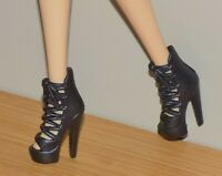 BARBIE DOLL BLACK STRAPPY SANDALS HIGH HEEL SHOES FIT FASHIONISTA MY SCENE MODEL