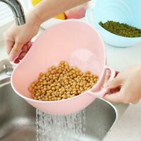 Rice Washer Strainer Kitchen Tools Vegetable Cleaning Container Basket New