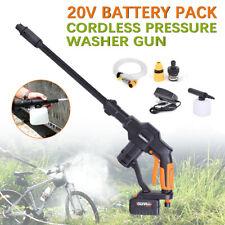 Outdoor Car Washing Kit High Pressure Water Gun+Nozzle+Battery 20V +5M Hose USA