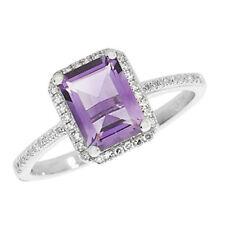 Unbranded Diamond Amethyst Fine Rings