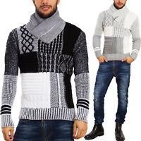 Maglione uomo slim fit collo alto zip pullover inverno TOOCOOL casual B345