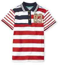 KANZ  Boy's  Embroidered Stripe Knit Polo  Size 4