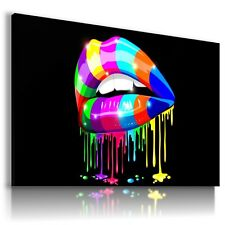 COLORFUL LIPS MAKE UP Modern Print Canvas Wall Art Abstract Picture AB450 MATAGA