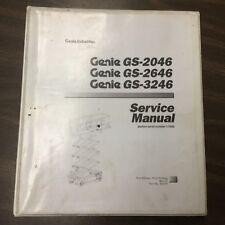 Genie GS-2046 2646 GS-3246 SERVICE REPAIR MANUAL SCISSOR LIFT MAINTENANCE 48339