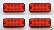 4 pezzi 12V LED ANTERIORE Rosso Luci di posizione laterali LAMPADA