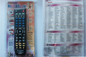 3 In 1 Universal Remote Control TV DVD VCD AUX Replacement Spare