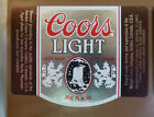 VINTAGE CANADIAN BEER LABEL - MOLSON BREWERY, COORS LIGHT BEER 341 ML #2