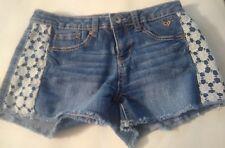Justin midi short mid rise teens girls size 14 waist is 29 inch stretch crochet