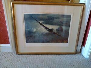The Dambusters Raid. 617 Sqn  Dams Raid 1943 Geoff Hunt,  Artist signed, framed.