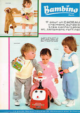 PUBLICITE ADVERTISING  1981   BAMBINO  pyjamas vetements enfants