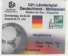 TICKET 03.06.1999 Germania-Moldavia, u21 in Wuppertal