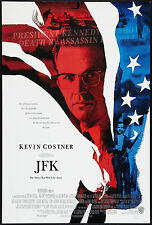 JOHN F. KENNEDY/JFK ASSASSINATION  Orig ROLLED 1991 movie poster KEVIN COSTNER