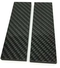 "Carbon Fiber- Solid Twill 2x2 - Knife Scales 3/16"" x 1.5"" x 5"" CarbonWaves"