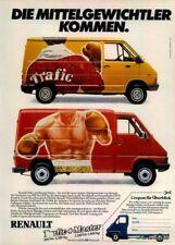 RENAULT-TRAFFIC-1981-Reklame-Werbung-genuine Advert-La publicité-nl-Versand