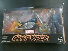 """Marvel Legends Hasbro 6"""" GHOST RIDER Figure Johnny Blaze With Flame Motorcycle"""