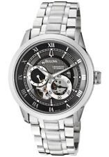 **NEW** BULOVA MENS AUTOMATIC GREY BLACK 96A119 WATCH RRP £399