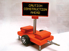 ILLUMINATED Highway CAUTION CONSTRUCTION AHEAD Trailer SIGN HO 1/87 scale 85001