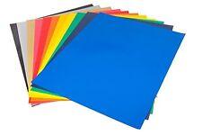 Cisinks 15 Sheets 12x10 Assorted Ccolors Glitter Heat Transfer Vinyl