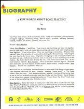 VINTAGE ORIGINAL 1992 Tom Waits Trove Promo Media 9 pages mostly both sides