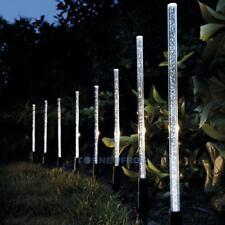 Solarlampe Gartenlampe 8er Set LED Solarleuchte Edelstahl Luftblasen Wegeleuchte