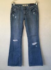 PINK BY VICTORIA'S SECRET DISTRESSED DESTROYED BOOT JEANS SIZE 6 S