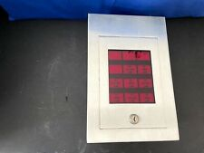*Vintage* *Rare* Gamewell FCI Fire Alarm Annunciator Stainless Steel Red
