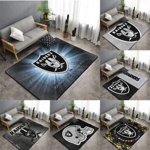 Oakland Raiders Rugs Anti-Skid Area Rug Living Room Bedroom Floor Mat Carpet