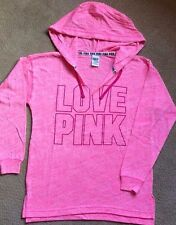 Victoria's Secret Pink Oversized Hoodie Beach Tunic Berry Pink Graphic S NIP