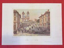 PH. BENOIST / LEMERCIER - ROME 7 FINE ART COLOR PRINT REPLICA of LITOGRAPHY