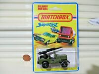 """Lesney Matchbox 1976 MB38C Armored Jeep with """"No. 38 JEEP"""" Base Plate Nu in BlPk"""