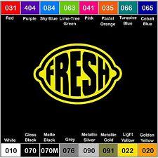 LEMON FRESH Vinyl Decal Sticker Window Illest clean stance hella jdm