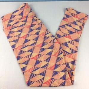 LuLaRoe TC Leggings Tall & Curvy Pink & Purple Triangles Geometric NEW