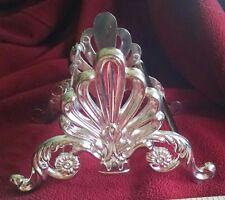 Vintage Silver Plated Knife Holder - lovely patina - from estate sale - holds 10