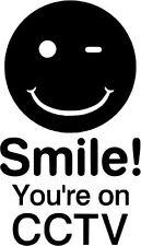 Sonrisa estás En Cctv, coche, Camper, Caravana, Camión, Calcomanía Adhesivo. UK Made,.