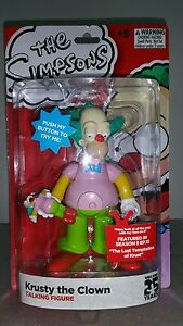Simpsons Deluxe Talking Action Figure Krusty The Clown Mint In Box NEW