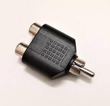 Conector Adaptador Audio - Doble RCA Hembra - RCA Macho