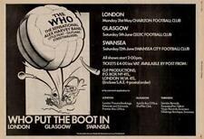 Who The Alex Harvey Outlaws Little UK show advert 1976 #2 EFGH