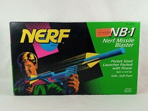 Vintage Nerf NB-1 Missile Blaster in Box Kenner 1993 Sealed NEW NOS RARE HTF