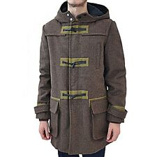 Marc Jacobs M2122507 Men's Brown Plaid Wool Hood Parka Gregory Toggle Coat XL