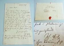 Maler Philipp VEIT (1793-1877): Eh. Brief FRANKFURT 1853 an Eduard von HEUSS