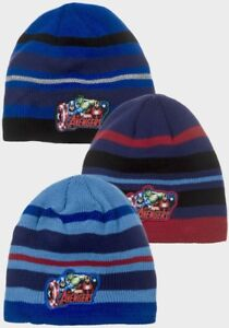 Boys Marvel Avengers Knitted Winter Hat Official Beanie 3-8 yrs Free P+P