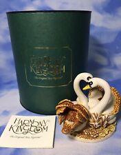 "Harmony Kingdom ""Pillow Talk"" Swan Bird Box Figurine Tjser97 Version 3 + Box Euc"