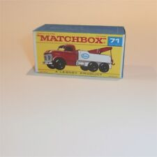 Matchbox Lesney 71 c Ford Heavy Wrecker Truck empty Repro F style Box