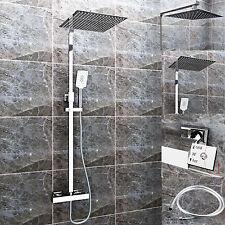 Duschset Chrom Quadratisch Duschsystem Duscharmatur Überkopfbrause Regendusche